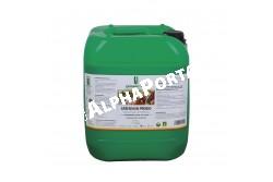 Greenman ProBio 10 liter  20078  A Greenman ProBio baktérium kultúrát tartalmazó takarmány kiegészítő hatása  Célállat fajok: Baromfi, galamb, ló, szarvasmarha, juh, kecske, sertés, kutya, macska  Javallatai, előnyei:Megelőzi az emésztőszervi betegségeket.Javítja a takarmányhasznosítást.Javítja a tenyészállatok és háziállatok általános ellenálló-képességét és kondícióját. Csökkenti a gyógyszerfelhasználást.Nyugodt, jó közérzetű, stresszmentes állapotot eredményez.Mérsékli a takarmányváltás, választás okozta stresszt. Optimalizálja az emésztőrendszert, immunrendszert.Lerövidíti a hasmenéses időszakokat.Csökkenti az elhullások számát. Felgyorsítja a sebek, sérülések gyógyulását.Visszaszorítja a gombás, bakteriális megbetegedések előfordulását. Az állati szervezetből történő kiürülést követően a mikroorganizmusok egy része aktív marad, enzimeket termelnek, így elősegítik a trágya gyorsabb lebomlását, ezáltal csökkentik a szagképződést és a szilárd anyagok mennyiségét   Adagolás: Baromfi és galamb: 2 liter /1000 l vízhez minimum heti 3 alkalommal.• Szarvasmarha: - első hónap – 100 ml heti 3 alkalommal, - következő hónapokban – 50 ml heti 2 alkalommal. Fiatal borjú: 15 ml - heti 2-3 alkalommal. Idősebb borjú: napi 20 ml.• Sertés: Kocák és hízók: napi 50 ml. Malacok: napi 20 ml.• Ló: napi 40-70 ml. Csikók: napi 25 ml. • Kecske és juh: napi 25-30 ml. Bárány: 15 ml heti 1-2 alkalommal.• Kutya: napi 5-20 ml. • Macska: napi 2-5 ml. • Nyúl: napi 2-5 ml. Takarmány savanyítás / silózás: 1 tonna zöld növényi anyaghoz 50-100 ml készítményt egyenletesen keverjünk el, majd hagyjuk érni a hagyományos silózási módon. Kiváló minőségű takarmány előállítását teszi lehetővé, melyben a tejsav mennyisége hatékony felszívódást és takarmányhasznosulást eredményez  Kiszerelés: 1 liter, 10 liter