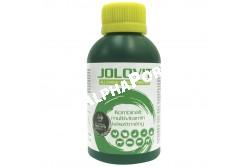 Jolovit 0,1 Liter  7279  Hatóanyag: (1000 ml-ben) Vitamin-A 14 000 000 NE Vitamin-B1 1,400 g Vitamin-B2 2,100 g Vitamin-B6 1,400 g Vitamin-B12 0,014 g Vitamin-D3 1 400 000 NE Vitamin-E 10 500 NE Biotin 0,035 g Vitamin-K3 0,175 g Nikotinsavamid 14,000 g Folsav 0,175 g Kolin-klorid 140,000 g D-Pantenol 6,550 g b-Karotin 0,010 g  Termékforma: orális oldat  Célállat faj: bármilyen fajú és korú háziállat   Javallat: vitamin pótlására, a stresszállapot és a hiánybetegségek leküzdésére.  Adagolás: Napi adag 100 baromfi részére: naposcsibék 5 ml, növendék-csirkék 7 ml, tenyészcsirkék és tojótyúkok 11 ml, pulykák 6 hetes korig 7 ml, pulykák 7-8 hetes korig 11 ml, pulykák 9-20 hetes korig 15 ml, kislibák az 1. héten 8 ml, kislibák a 2.-3. héten 11 ml, libák és kacsák 7 ml, galambok 5 ml. Valamennyi baromfinak 5 napos kezelés javasolható, alkalmazása havonta egyszer ajánlott.  Kiadhatóság: szabad forgalmú.  Kiszerelés: 100 ml, 1 liter, 5 liter, 20 liter