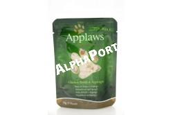 -Applaws Cat Alutasak Csirke és spárga 70g  AL8002  Applaws Csirkemell és spárga 70  Az APPLAWS tasakos Csirkemell és spárga terméke csak a felsorolt összetevőket tartalmazza. Az Applaws teljesen természetes teljes értékű eledel  macskák részére. Összetétel: csirkehús 70% spárga 5% víz 24% rizs 1%. Beltartalmi alkotórészek: nedvesség 78% nyers fehérje 19% nyers zsír 0.3% nyers hamu 0.7% nyers rost 0.2%. Az állat előtt mindig legyen friss tiszta ivóvíz. Szobahőmérsékleten adagolja. Szavatossági idő és gyártási szám: a csomagolás aljára nyomtatva.  PRÓBÁLJA KI! KEDVENCE SZERETNI FOGJA MERT AZ APPLAWS  SZÁRAZ ELEDELEK GABONAMENTESEK ÉS 80%-BAN TARTALMAZNAK CSIRKEHÚST!