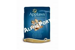 -Applaws Cat Alutasak Tonhal és tengeri hal 70g  AL8004  Applaws Tonhal és tengeri keszeg filé 70  Az APPLAWS tasakos Tonhal és tengeri keszeg filé terméke csak a felsorolt  összetevőket tartalmazza. Az Applaws teljesen természetes teljes értékű eledel  macskák részére.   Összetétel: tonhal 70% tengeri keszeg 5% víz 24% barna rizs 1% Beltartalmi alkotórészek: nedvesség 76% nyers fehérje 21% nyers zsír 0.3% nyers hamu 1% nyers rost 0.1% Az állat előtt mindig legyen friss tiszta ivóvíz. Szobahőmérsékleten adagolja. Szavatossági idő és gyártási szám: a csomagolás aljára nyomtatva.  PRÓBÁLJA KI! KEDVENCE SZERETNI FOGJA MERT AZ APPLAWS  SZÁRAZ ELEDELEK GABONAMENTESEK ÉS 80%-BAN TARTALMAZNAK  CSIRKEHÚST!