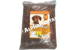 -Alpha Falat Csirkés 10kg  ALFA27  ALPHA FALAT CSIRKÉS 10KG  Teljes értékű száraz kutyaeledel normál aktivitású felnőtt kutyák részére csirke ízesítéssel.  Az Alpha Falat etetésével a garantált minőségű nyersanyagok alkalmazásának köszönhetően kutyája egy kiválóan emészthető kellemes ízű szívesen fogyasztott táplálékhoz jut.  Szárazanyag min. 93% nyersfehérje min. 16% nyerszsír min. 6% nyersrost max. 1% kálcium min. 1% foszfor min. 0 60 nátrium minimum 0 40 A vitamin 2000 0 E/kg D vitamin 228 0 NE/kg E vitamin 60 0 mg/kg. Száraz hűvös helyen tárolandó.