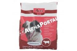 -Alfi Dog Száraz Marha 3kg  ALFI110  ALFI DOG SZÁRAZ MARHA 3KG  Teljes értékű száraz kutyaeledel normál energiaigényű felnőtt kutyák részére 1 éves kortól marhahúsos ízesítéssel.  Az Alfi Dog etetésével a garantált minőségű nyersanyagok alkalmazásának köszönhetően kutyája egy kiválóan emészthető kellemes ízű szívesen fogyasztott táplálékhoz jut.  Szárazanyag min. 93% nyersfehérje min. 16%