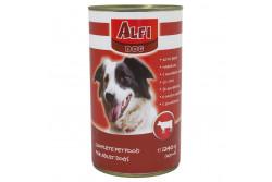 -Alfi Dog Konzerv Marha 1240g  ALFIK1  ALFI DOG KONZERV MARHA 1240G  Teljes értékű konzerv marhahúsos ízesítéssel. Felnőtt normál aktivitású kutyák részére 1 éves kortól ajánljuk.  Az Alfi Dog etetésével a garantált minőségű nyersanyagok alkalmazásának köszönhetően kutyája egy kiválóan emészthető kellemes ízű szívesen fogyasztott táplálékhoz jut.  Szárazanyag min. 93% nyersfehérje min. 16% nyerszsír min. 6% nyersrost max. 1% kálcium min. 1% foszfor min. 0 60 nátrium minimum 0 40 A vitamin 2000 0 E/kg D vitamin 228 0 NE/kg E vitamin 60 0 mg/kg. Száraz hűvös helyen tárolandó.