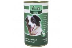-Alfi Dog Konzerv Vad 1240g  ALFIK3  ALFI DOG KONZERV SZÁRNYAS 1240G  Teljes értékű konzerv vadhúsos ízesítéssel. Felnőtt normál aktivitású kutyák részére 1 éves kortól ajánljuk.  Az Alfi Dog etetésével a garantált minőségű nyersanyagok alkalmazásának köszönhetően kutyája egy kiválóan emészthető kellemes ízű szívesen fogyasztott táplálékhoz jut.  Szárazanyag min. 93% nyersfehérje min. 16% nyerszsír min. 6% nyersrost max. 1% kálcium min. 1% foszfor min. 0 60 nátrium minimum 0 40 A vitamin 2000 0 E/kg D vitamin 228 0 NE/kg E vitamin 60 0 mg/kg. Száraz hűvös helyen tárolandó.