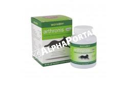 Arthronis 2.Fázis tabletta 60x  ARTHRO2  Hatóanyag:700 mg Hidrolizált kollagén,250 mg MSM,150 mg Lactomin  Célállat faj: kutya  Javallatok: Fiatal, növekedésben lévő nagytestű kölyökkutyák és gyors növekedésű fajták ízületi problémáinak megelőzésére akár a fázis1.készítménnyel együtt adva,felnőtt, intenzív mozgást végző sport és munkakutyák ízületeinek védelmére, az inak és ínszalagok rugalmasságának megőrzésére,csont és ízületi műtétek után a regeneráció felgyorsítására.Az inak, szalagok és porcok védelmére, regenerációjára  Adagolás: 25 kg alatt napi 1 tbl, 25-50 kg között napi 2 tbl, 50 kg felett napi 3 tbl  Kiszerelés: 60 tabletta