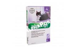 Advantage 80 macska/nyúl 0,8 ml 4 kg felett  BAYE03  Hatóanyag: Imidakloprid 100 mg/ml  Célállat fajok: macska és nyúl. 4 ttkg felett.  Javallat: Rácsepegtető oldat macskák és nyulak bolhásságának megelőzésére és kezelésére, ezáltal a bolhacsípés okozta allergiás bőrgyulladás (FAD) megelőzésére, illetve a gyógykezelés részeként gyorsan és könnyen alkalmazható csöpögtető készítmény macskáknak és nyulak Ctenocephalides felis okozta bolhásságának kezelésére  Adagolás: az állat testtömegének megfelelő kiszerelésű pipettát csepegtesse az állat nyakára a gerinc vonalában  Kiszerelés: 4x