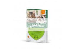 Advantage 40 macska/nyúl 0,4 ml 4 kg alatt 1x  BAYE041  Hatóanyag: Imidakloprid 100 mg/ml  Célállat fajok: macska és nyúl  Javallat: Rácsepegtető oldat macskák és nyulak bolhásságának megelőzésére és kezelésére, ezáltal a bolhacsípés okozta allergiás bőrgyulladás (FAD) megelőzésére, illetve a gyógykezelés részeként gyorsan és könnyen alkalmazható csöpögtető készítmény macskáknak és nyulak Ctenocephalides felis okozta bolhásságának kezelésére  Adagolás: az állat testtömegének megfelelő kiszerelésű pipettát csepegtesse az állat nyakára a gerinc vonalában  Kiszerelés: 4x