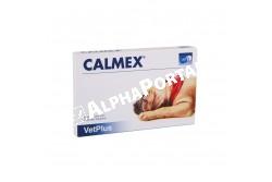Calmex nyugtató tabletta 12x  CALMEX  Hatóanyag: mámorbors, aminosavak, B-vitaminok  Célállat faj: kutya  Javallatok: Tűzijáték, villámlás és viharok esetén Utazási stressz, szorongás, egyedüllétkor.Választási szorongás, új jövevény érkezése esetén.Panzió, környezetváltozás, költözés esetén  Adagolás:A kapszulát beadhatjuk egyben vagy szétnyitva, a táplálékra szórva, a kívánt hatás elérése előtt 30, vagy 60 perccel. Tartós stresszhelyzetekben, hosszútávon adható.Testsúly< 10kg: fél kapszula 10-25kg: 1 kapszula> 25kg: másfél kapszula  Kiszerelés: 1 levél/12 tabletta nyugtatás, a stressz oldása