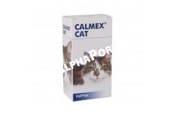 Calmex Cat 60 ml  CALMEXCAT  Hatóanyag: mámorbors, aminosavak, B-vitaminok  Célállat faj: macska  Javallat: nyugtatás, a stressz oldása macskában  Adagolása: A készítményt beadhatjuk orálisan vagy a táplálékra csepegtetve, a kívánt hatás elérése előtt 30, vagy 60 perccel. Tartós stresszhelyzetekben hosszútávon adható  Adagolása: 0,1ml testsúly kilogrammonkéntHa szükséges, növelje az adagot 0,5-1ml-rel testsúly kilogrammonként vagy kérdezze meg állatorvosát!Egyszeri alkalommal fennálló félelem vagy szorongás esetén emeljük duplájára az adagot, és egy órával a várható stresszhelyzet előtt alkalmazzuk. A viselkedési zavarok enyhülése után az adagok csökkenthetők.Összetétel:L-triptofán, L-teanin, tiamin, niacin, B6 vitamin  Kiszerelés: 60 ml