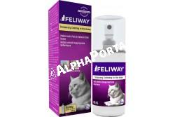 Feliway spray 60 ml  CEVA66  FELIWAY CLASSIC Spray:  A FELIWAY CLASSIC Spray segít, hogy az utazás és az állatorvosi vizit kevésbé stresszes legyen, valamint adott helyen megelőzi a karmolászást és vizeletspriccelést.  A FELIWAY CLASSIC Spray kényelmes módja, hogy meghittséget és biztonságérzetet nyújtson a macskának utazás közben, vagy az állatorvosi rendelőbe menet, amely komoly stressz forrása lehet. Fújjon a spray-ből a macskaszállító belsejébe (a sarkokba, az aljára és a tetejére), 15 perccel azelőtt, hogy a macskát belehelyezné. Lehetőleg ne etesse meg a macskát az indulás előtt 6 órával, hogy elkerülje az utazási betegséggel járó hányást.  A FELIWAY nem ajánlott nyílt agresszió (macskák közötti vagy a gazda felé irányuló), illetve nem-stressz eredetű viselkedési tünetek esetén. A feromonok egyaránt biztonságosak az emberek és az állatok számára, amennyiben a javaslatoknak megfelelően alkalmazzák azokat. Bármilyen kezeléssel együtt alkalmazható. Kölyök, felnőtt és idős macskák számára egyaránt alkalmas. További hasznos információkat és a használatot bemutató videókat talál a www.feliway.hu oldalon. FELIWAY CLASSIC  Spray 60 ml Összetétel: Macska faciális feromon F3 frakció analóg: 10% Etanol q.s.: 60 ml A FELIWAY CLASSIC Spray hatása akár 4-5 órán keresztül fennáll. Egy 60 ml-es tartály kb. 400 spriccelésre elég (kb. 50 használat).
