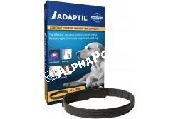 Adaptil nyakörv 70 cm  CEVA72  Az Adaptil termékcsalád hatóanyaga kizárólag kutyák számára érzékelhető, nyugtató hatású feromon  Javallat: kistestű kutyák számára, nyugtatásra stresszes helyzetekben, mint mennydörgés, tűzijáték, utazás, stb  Kiszerelés: 1 db