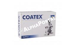 Coatex bőrtápláló kapszula 60x  COATEX  Hatóanyag: Egy kapszula tartalma: gamma-linolensav (Boragó magolaj) 110mg, Linolénsav (Boragó magolaj) 190mg, Eikozapentaénsav (Halolaj) 15,4mg, Dokozahexaénsav (Halolaj) 10,3mg, D-tokoferol (E-vitamin) 10mg, A-vitamin 100NE, D3-vitamin 30NE  Célállat faj: kutya  Adagolás: minimum 4 héten át szükséges alkalmazni a következő adagolási táblázat alján: 10 kg alatt 1 kapszula naponta 10-19kg 2 kapszula naponta 20-29kg 3 kapszula naponta 30 kg felett 4 kapszula naponta Szükség esetén a napi mennyiség emelhető.Minimum 4 héten át szükséges alkalmazni a következő adagolási táblázat alaján:10 kg alatt 1 kapszula naponta 10-19kg 2 kapszula naponta 20-29kg 3 kapszula naponta 30 kg felett 4 kapszula naponta   Kiszerelés: 60 kapszula