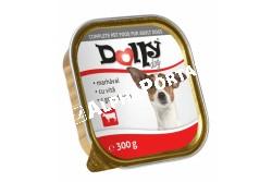 -Dolly Dog Alutálka Marhás 300gr  DOLLY10  Teljes értékű állateledel felnőtt kutyák számára marhával  Összetétel: hús és állati származékok 40% (4% marha), hal és halszármazékok, növényi eredetű származékok, ásványi anyagok, különböző cukrok. Analitikai összetevők: nedvességtartalom 82%, nyersfehérje 9%, zsírtartalom 5%, nyershamu 3%, nyersrost 0,3%. Adalékanyagok: Tápértékkel rendelkező adalékanyagok/kg: E-vitamin 25 mg, cink (mint cinkszulfát-monohidrát) 10 mg, mangán (mint mangán-oxid) 2,5 mg, jód (mint kálium-jodid) 0,2 mg. Etetési javaslat: Tálalja szobahőmérsékleten! A nyitott tálkát hűtőben tárolja és 2 napon belül használja fel!  Tárolás: száraz helyen. Minőségét megőrzi (nap, hó, év): a csomagoláson jelölt időpontig. Gyártási tételszám a csomagoláson. Forgalmazza: Alpha-Vet Állatgyógyászati Kft., 1194 Budapest, Hofherr A u. 38-42., te.: +36-1-348-3000, email: vevoszolgalat@alpha-vet.hu Nettó tömeg: 300 g e