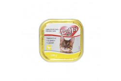 -Dolly Cat Alutálka Baromfi 100gr  DOLLY7  Teljes értékű állateledel felnőtt macskák számára baromfival  Összetétel: hús és állati származékok 40% (4% baromfi), hal és halszármazékok, növényi eredetű származékok, ásványi anyagok, különféle cukrok. Analitikai összetevők: nedvességtartalom 82%, nyersfehérje 9%, zsírtartalom 5%, nyershamu 3%, nyersrost 0,3%. Adalékanyagok: Tápértékkel rendelkező adalékanyagok/kg: E- vitamin 25 mg, taurin 450 mg, cink (mint cinkszulfát-monohidrát) 10 mg, mangán (mint mangán-oxid) 2,5 mg,  Minőségét megőrzi (nap, hó, év): a csomagoláson jelzett időpontig. Gyártási tételszám a csomagoláson. Forgalmazza: Alpha-Vet Állatgyógyászati Kft., 1194 Budapest, Hofherr A u. 38-42., te.: +36-1-348-3000, email: vevoszolgalat@alpha-vet.hu Etetési javaslat: Egy átlagos méretű macska napi szükséglete max. 300 g, napi 2 étkezésre elosztva. Tálalja szobahőmérsékleten! A nyitott tálkát hűtőben tárolja és 2 napon belül használja fel! Tárolás: száraz helyen. Nettó tömeg: 100g e