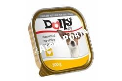 -Dolly Dog Alutálka Baromfi 300gr  DOLLY9  Teljes értékű állateledel felnőtt kutyák számára baromfival  Összetétel: hús és állati származékok 40% (4% baromfi), hal és halszármazékok, növényi eredetű származékok, ásványi anyagok, különböző cukrok. Analitikai összetevők: nedvességtartalom 82%, nyersfehérje 9%, zsírtartalom 5%, nyershamu 3%, nyersrost 0,3%. Adalékanyagok: Tápértékkel rendelkező adalékanyagok/kg: E-vitamin 25 mg, cink (mint cinkszulfát-monohidrát) 10 mg, mangán (mint mangán-oxid) 2,5 mg, jód 0,2 mg. Etetési javaslat: Tálalja szobahőmérsékleten! A nyitott tálkát hűtőben tárolja és 2 napon belül használja fel!  Tárolás: száraz helyen. Minőségét megőrzi (nap, hó, év): a csomagoláson jelölt időpontig. Gyártási tételszám a csomagoláson. Forgalmazza: Alpha-Vet Állatgyógyászati Kft., 1194 Budapest, Hofherr A u. 38-42., te.: +36-1-348-3000, email: vevoszolgalat@alpha-vet.hu Nettó tömeg: 300 g e