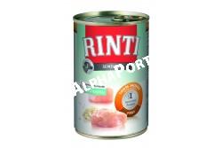 -Rinti Dog Sensible Konzerv Csirke+Rizs 400g  FN94052  RINTI Sensible 400g. (Csirke + rizs)  Allergia esetén – érzékeny kutyának – exkluzív fehérjefajtákkal.  A válogatott húsfajták és nyersanyagok csökkentik az ételallergia kockázatát. A RINTI Sensible csak egyetlen fehérjeforrást/ húsfajtát tartalmaz. Nem tartalmaz több gabonát vagy zöldséget mint ami a nevében szerepel.  Mivel az érzékeny kutyák válogatva esznek nagyon fontos az ízletesség a jó elfogadottsághoz.  Marha és rizs: Kizárólag 100% tiszta marhahús és fényezetlen rizs (nem rizsliszt). Különösen bárányhús- összetevőre érzékeny allergiára.                            emészthető. Fehérje 8% - zsír 6% - Nedvesség 80%.  Csirke és burgonya: Kizárólag csirke (100%) burgonyadarabkákkal. Különösen olyan kutyáknak amelyek csirkehúst képesek megemészteni de gabonát nem. Fehérje 7 5 - zsír 7% - Nedvesség 80%.  Csirke és rizs:  Kizárólag csirke (100%) fényezetlen rizzsel (nem rizsliszt).