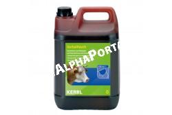 Tőgymosó Kerba Wasch 5 Liter  KR1526  koncentrátum a tőgy fertőtlenítő tisztításához   alkalmazható tőgyzuhanyoztatáshoz, tőgytörléshez vagy tőgypapírhoz   megfelel az élelmiszeripari és állategészségügyi előírásoknak   nem befolyásolja a tej ízét   rendkívül takarékos: 100 ml 10 l felhasználásra kész oldatban 1,2 g jód / 100 g