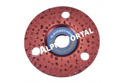 Csülökvágó Korong Ritka 125mm  KR16344  ritka felhordású    30-as szemcsék    puha patához ajánlott   könnyebben tisztítható mint a sűrűszemcsés