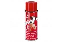 Állatjelölő Spray Topmarker Piros 500ml Szvm Sertés  KR20156  szarvasmarhák, kecskék és sertések jelöléséhez   intenzív színű és gyorsan száradó festék    juhokhoz ajánljuk a speciális juhjelölő sprayt Helyettesítő termékek:  KR20157, KR20158, KR20173