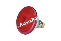 Infralámpa Izzó Piros  175 W Philips E27 ES  KR22303  PAR 38  5000h  30% energia megtakarítás cseppálló