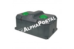 Fagymentes 2 Labdás Itató Duo 100 L  KR223600  Méret:108,5 x 70 x 52,5 cm     Fagymentesség:-30C-ig    Kapacitás:35 lit./perc   Állateltartó képesség:40 szvm  vagy 60 juh Tömege:41kg.  Csatlakozás:1/2 col