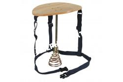 Fejőszék  KR2910  acél láb, állórugó és fa ülés    a felcsatoláshoz állítható nylongarnitúrával