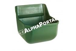 Csikóetető műanyag zöld, 9 L  KR32460  szilánkmentes műanyag   leeresztő dugóval   méretei sz x m x mélys: 33 x 33,5 x 28 cm   űrtartalma kb. 9 liter