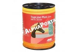 Vp.Szalag Topline 200m/20mm Narancs  KR449563  0,374 ohm/m  5 fémszál   120kg szakító szilárdság