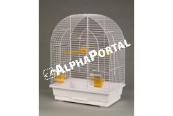 Kalitka Lusi I Fehér 390x250x530mm  P040  Inter-Zoo - LUSI II      450x280x630  Kiváló minőségű Inter-Zoo kalitka papagájnak pintynek kanárinak és egyéb díszmadaraknak.  Házikedvence remekül érzi magát az Inter-Zoo kalitkában mely műanyag aljzatból és fém vázból áll. A két rész különválasztható tisztításkor szállításkor könnyen szétválasztható illetve összeilleszthető.