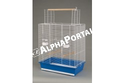 Kalitka Ara Fehér 540x340x685mm  P060  Inter-Zoo - ARA FEHÉR 540x340x685  Kiváló minőségű Inter-Zoo kalitka papagájnak pintynek kanárinak és egyéb díszmadaraknak.  Házikedvence remekül érzi magát az Inter-Zoo kalitkában mely műanyag aljzatból és fém vázból áll. A két rész különválasztható tisztításkor szállításkor könnyen szétválasztható illetve összeilleszthető.