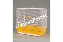 Kalitka Luna Fehér 450x280x425mm  P130  Inter-Zoo - LUNA FEHÉR    450x280x425  Kiváló minőségű Inter-Zoo kalitka papagájnak pintynek kanárinak és egyéb díszmadaraknak.  Házikedvence remekül érzi magát az Inter-Zoo kalitkában mely műanyag aljzatból és fém vázból áll. A két rész különválasztható tisztításkor szállításkor könnyen szétválasztható illetve összeilleszthető.