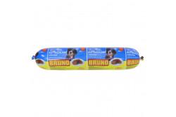 -Bruno Májas Ízesítésű Kutya szalámi Csirkehússal 1kg  PD853792  Mikrobiológiai határérték: - Tárolási/szállítási körülmények: bontatlan csomagolásban szobahőmérsékleten, felbontás után 3 napig hűtőszekrényben Beltartalmi értékek:  - Nedvesség: 67% (m/m) - Szárazanyag tartalom: 33% (m/m) - Nyershamu tartalom: 4% (m/m) - Nyers fehérje: 14 % (m/m) - Nyers zsír: 9.9 % (m/m)  Teljes értékű takarmány  Felhasználási útmutató: A kutyák mindennapos etetésére alkalmas, étrendjüket változatosabbá tehetjük. Minden méretű és fajtájú felnőtt kutyának ajánlott. Összetétel: hús és állati származékok 88%, gabonafélék, ásványi és adalékanyag keverék (só, tartósítószer /E250/, csomósodásgátló anyag /E536/, ásványi anyag), aroma. Gyártási idő/Minőségét megőrzi: Bontatlan állapotban (nap/hónap/év) a csomagoláson jelzett időpontig. Felbontás után hűtőben tárolható 3 napig. Tárolása: száraz, hűvös helyen. Beltartalmi értékek: Nedvesség: 67 % (m/m); Szárazanyag: 33% (m/m); Nyers fehérje 14 % (m/m); Nyers zsír 9.9% (m/m); Nyershamu: 4% (m/m) Nyers rost 1.2% (m/m) Figyelmeztetés! Csak takarmányozási célra! Származási hely: EU