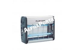Elektromos Rovarcsapda Plus+Zap 30  ROVAR1  Nagyfeszültséggel működő rovarcsapda. Áramforrás:230V - Ható körzet (m2): 320 függesztett elhelyezésnél körkörös védelem - Súly (kg): 2,5 - Méretei (mm): 514 x 130 x 262 - UV-A fénycső (W): 2 x 15 (TVX15-18) - Indító kondenzátor: 2x1154 Alumínium vázszerkezet, UV rezisztens végzáró elemek