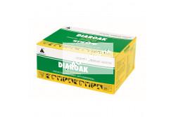 Diaroak premix 30 g  SZB1918  A DIAROAK 13-féle gyógynövénykivonat tudományosan összeállított keveréke, amely karbantartja és helyreállítja a gyomor- és bélrendszer működését, megelőzve ezzel a hasmenéses esetek kialakulását  Célállat:Szarvasmarha, ló, juh, kecske, sertés, baromfi és galamb  Javallat:Különböző eredetű hasmenések megelőzésére és kezelésére (pl. etetési hibák, nedves vagy szennyezett takarmány, ismeretlen eredetű fertőzések esetén)  Hatása:- megakadályozza a víz- és tápanyagveszteséget,- normalizálja a gyomor- és bélmozgást, ill. a felszívódást a bélrendszerben,- megköti és semlegesíti az enterotoxinokat,- védőréteget képez a gyomor és a bélrendszer nyálkahártyáján,- nem károsítja a gyomor és a bél mikroflóráját  Alkalmazás:A granulátumot kb. ötszörös mennyiségű vízben kell feloldani teljes oldódásig, majd felrázva szájon át beadni az alábbiak szerint:- szarvasmarha, ló: 30 g,- borjú, csikó: 10-15 g naponta kétszer,- juh, kecske, sertés: 7,5-10 g,- baromfi: 0,25%-os arányban a takarmányba keverve 5-7 napig.- galamb: Megelőzésként versenyek után 30 g/100 galamb/nap. Kezelésként a már kialakult tünetek esetén 3-5 napig vagy a tünetek elmúlásáig egy kevés olajozott vagy rendes takarmányra szórva, hogy a madarak azonnal elfogyasszák  Kiszerelés: 1 kg, 30 kg