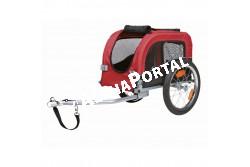 .Bicikli Trailer S 38×38×60cm Fekete/Piros  TRX12813  Kiegészítő felszerelés házi kedvencek részére. Anyaga: az állat szempontjából biztonságos anyagból készült (gumi, műanyag, fa, fém vagy nylon). Ne hagyja kedvencét felügyelet nélkül a felszereléssel!