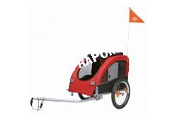 .Bicikli Trailer M46x50x74cm Fekete/Piros  TRX12814  Kiegészítő felszerelés házi kedvencek részére. Anyaga: az állat szempontjából biztonságos anyagból készült (gumi, műanyag, fa, fém vagy nylon). Ne hagyja kedvencét felügyelet nélkül a felszereléssel!