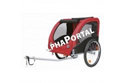 .Bicikli Trailer L 60x60x78cm Fekete/Piros  TRX12816  Kiegészítő felszerelés házi kedvencek részére. Anyaga: az állat szempontjából biztonságos anyagból készült (gumi, műanyag, fa, fém vagy nylon). Ne hagyja kedvencét felügyelet nélkül a felszereléssel!