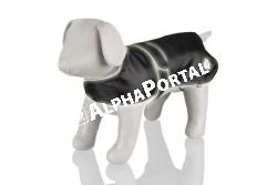 .Esökabát Fényvisszaverős Orléans Xl 80cm Fekete  TRX30510  TRIXIE - Orléans Hundemantel XL 80 cm reflekt.  Szívós nylon anyagból készült kutyakabát.  Fényvisszaverő szegélyekkel és lábnyom mintájú foltokkal díszített. A kabát víztaszító és belülről nagyon finom filccel bélelt. A könnyű viselést 4 kényelmes lábhurok biztosítja. Mérete: 80 cm.