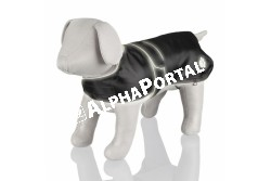 .Esökabát Fényvisszaverős Orléans S 35cm Fekete  TRX30513  TRIXIE - Orléans Hundemantel S 35 cm reflekt.  Szívós nylon anyagból készült kutyakabát.  Fényvisszaverő szegélyekkel és lábnyom mintájú foltokkal díszített. A kabát víztaszító és belülről nagyon finom filccel bélelt. A könnyű viselést 4 kényelmes lábhurok biztosítja. Mérete: 35 cm.