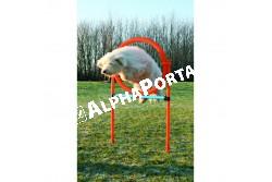 .Játék Dog Activity Agility Magas Ugróléc+Karika 115*3cm 65cm Kék/Narancs  TRX3208  Játék házi kedvencek részére. Anyaga: az állat szempontjából biztonságos anyagból készült (gumi, latex, műanyag, plüs fa vagy fém) Ne hagyja kedvencét felügyelet nélkül a játékkal.