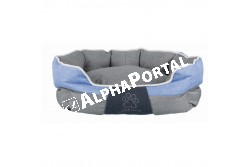 .Ágy Joris 60*50cm szürke/kék  TRX37533  Pihenőhely házi kedvencek részére. Anyaga: textil bevonatú, poliészter töltettel