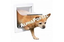 .Ajtó Kutyának Xs-S Fehér 25*29cm  TRX3877  Ajtó házi kedvencek ki- és bejárására, 2 vagy 4 utas kivitelben (modeltől függően). Anyaga: műanyag