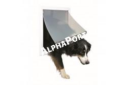 .Ajtó Kutyának 2 Utas M-Xl Fehér 39*45cm  TRX3879  Ajtó házi kedvencek ki- és bejárására, 2 vagy 4 utas kivitelben (modeltől függően). Anyaga: műanyag