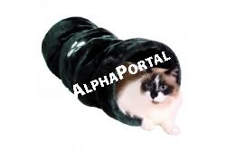 .Bújócső Macskának 22x60cm Szürke  TRX42987  Játék házi kedvencek részére.  Anyaga: az állat szempontjából biztonságos anyagból készült. (gumi, latex, müanyag, plüss, fa vagy fém) Ne hagyja kedvencét felügyelet nélkül a játékkal.