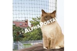 .Háló macskának 6*3m Zöld  TRX44294  Kiegészítő felszerelés házi kedvencek részére. Anyaga: az állat szempontjából biztonságos anyagból készült (gumi, latex, műanyag, fa fém vagy nylon)