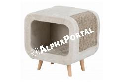 .Kaparó bútor Alicia 4 lábbal 48x48x38cm szürke/világosszürke  TRX44430