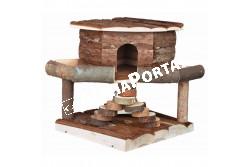 .Faház Hörinek -Ida- 19*20*19  TRX61777  Kiegészítő felszerelés házi kedvencek részére.  Anyag: az állat szempontjából biztonságos anyagból készült (gumi, latex, fa, fém vagy nylon)