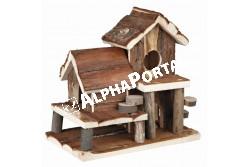 .Faház Hörinek -Birte-25*24cm  TRX61779  Kiegészítő felszerelés házi kedvencek részére.  Anyag: az állat szempontjából biztonságos anyagból készült (gumi, latex, fa, fém vagy nylon)