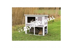 .Faház Nyúlnak Szürke/Fehér 104*97*52cm  TRX62305  Kiegészítő felszerelés házi kedvencek részére.  Anyag: az állat szempontjából biztonságos anyagból készült (gumi, latex, fa, fém vagy nylon)