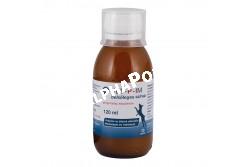Vet-P-Im szirup 120 ml  VETPIM  Hatóanyag: (1 ml tartalmaz) BAP-8 (Standardizált Pleuran kivonat) 10,0 mg Fruktóz: 100 mg Citromsav 2,0 mg Benzoesav 0,5 mg  Célállat faj: kutya, szarvasmarha  Javallat: A VET-P-IM szirup immunmoduláns hatású BAP-8 összetevőt tartalmaz. A BAP-8 biológiailag aktív poliszacharidok komplexe, melyet természetes forrásból, laskagombából (Pleurotus ostreatus) izoláltak. Fokozza az állatok ellenálló képességét és vitalitását. Fertőzések esetén elősegíti a szervezet megfelelő védekezését. Alkalmazása ajánlott túlzott fizikai megterhelés, stressz, valamint teljes szervezeti kimerülés esetén  Adagolás: A mellékelt adagolóval vagy fecskendővel a szirup táplálékba, ivóvízbe keverhető, vagy közvetlenül az állat szájüregébe is adható. Használat előtt felrázandó. Kutya: 2 ml/5 ttkg (1-5 kg-ig: egységesen 2 ml) Szarvasmarha: 1ml/10ttkg A szervezet ellenálló képességének növelése érdekében javasolt a VET-P-IM szirupot naponta egyszer, hosszabb időszakon (legalább 2-3 hónapon) keresztül alkalmazni. A napi adag megduplázható min. 3 napon át az adagolás kezdetén  Kiszerelés: 120 ml, 5000 ml